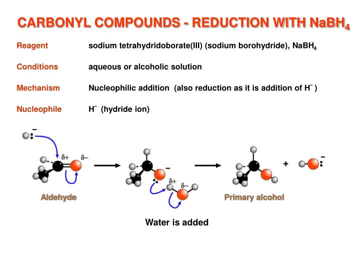 CARBONYL COMPOUNDS - REDUCTION WITH NaBH