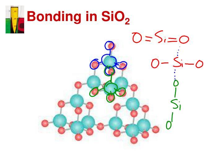 Bonding in SiO