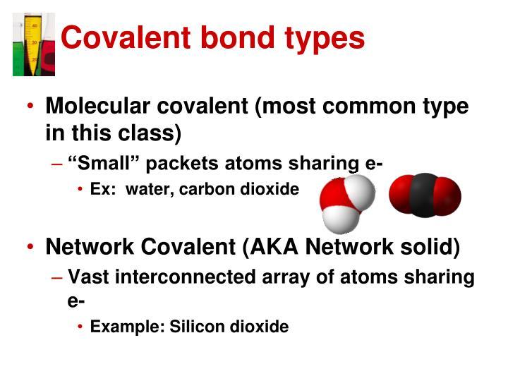 Covalent bond types