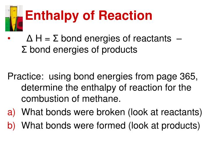 Enthalpy of Reaction
