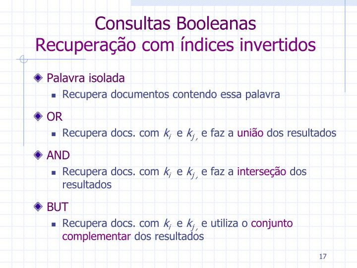 Consultas Booleanas