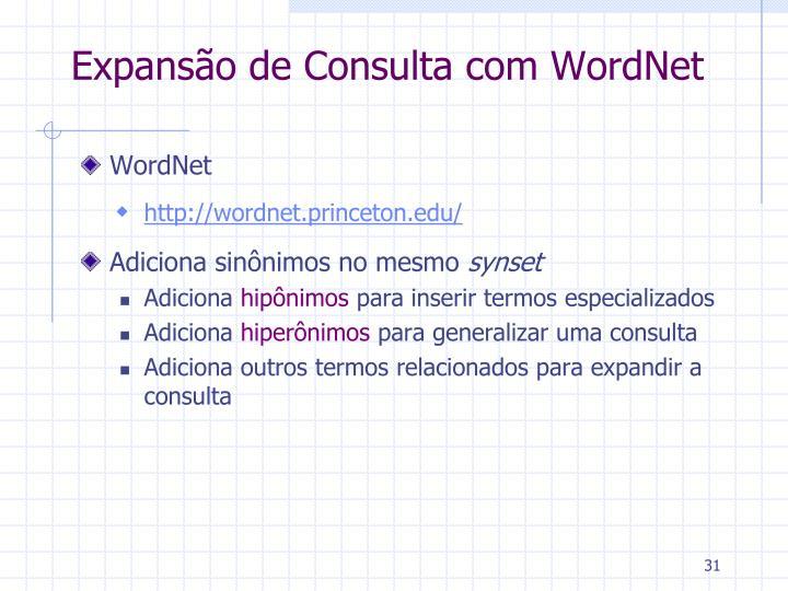 Expansão de Consulta com WordNet