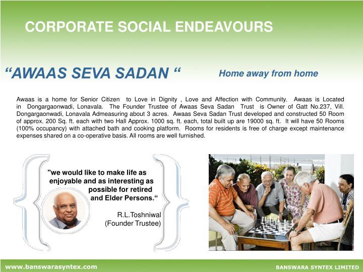 CORPORATE SOCIAL ENDEAVOURS