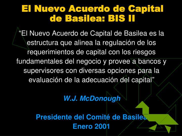 El Nuevo Acuerdo de Capital d
