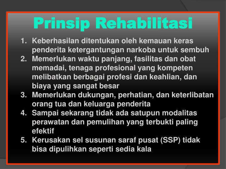 Prinsip Rehabilitasi