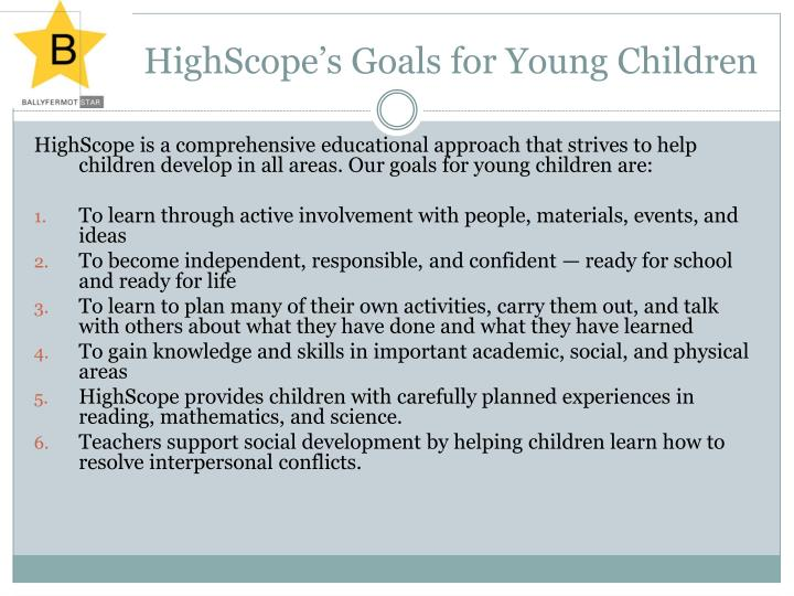 HighScope's Goals for Young Children