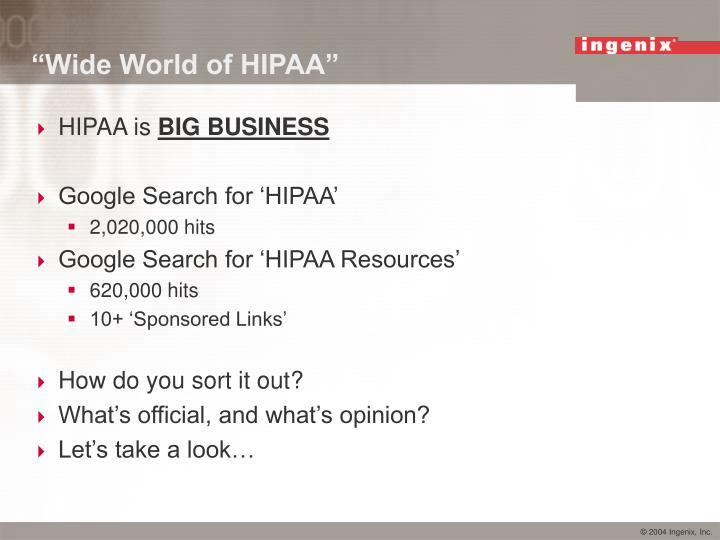 """""""Wide World of HIPAA"""""""