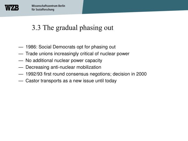 3.3 The gradual phasing out