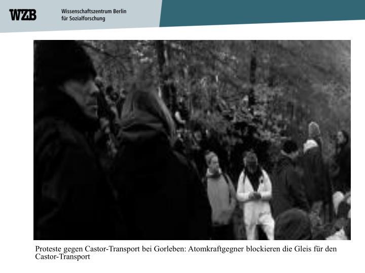Proteste gegen Castor-Transport bei Gorleben: Atomkraftgegner blockieren die Gleis für den Castor-Transport