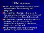 rc f duties cont
