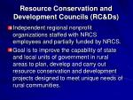 resource conservation and development councils rc ds