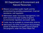 sd department of environment and natural resources