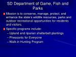 sd department of game fish and parks