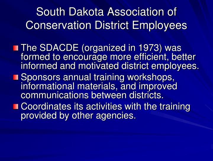 South Dakota Association of Conservation District Employees