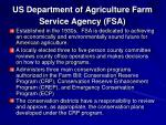 us department of agriculture farm service agency fsa