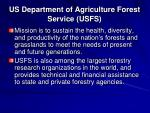 us department of agriculture forest service usfs