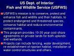us dept of interior fish and wildlife service usfws