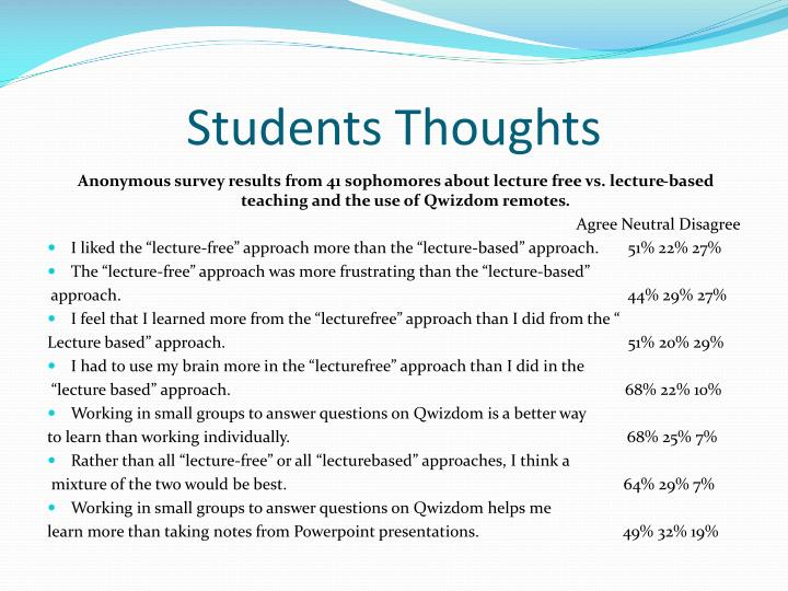 Students Thoughts