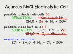 aqueous nacl electrolytic cell