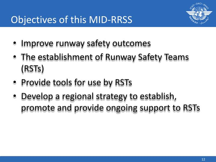 Objectives of this MID-RRSS