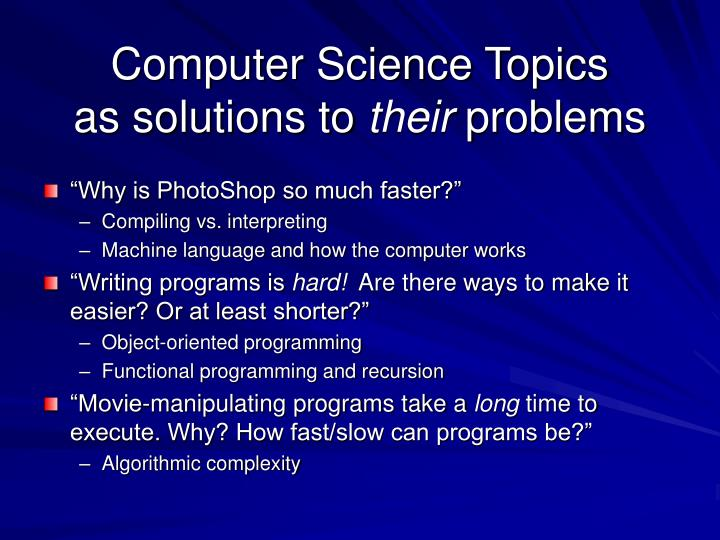 Computer Science Topics