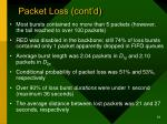 packet loss cont d2