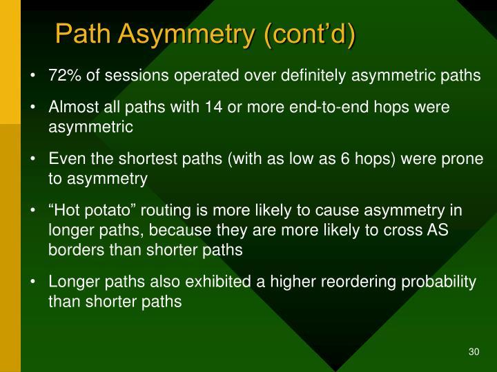 Path Asymmetry (cont'd)