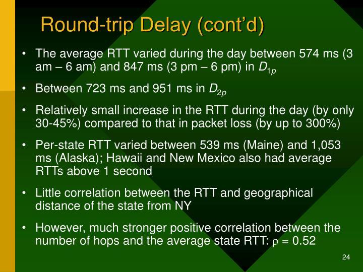 Round-trip Delay (cont'd)