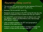round trip delay cont d2