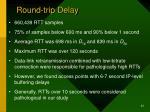 round trip delay