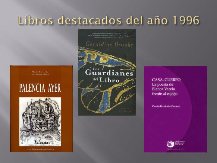 Libros destacados del año 1996