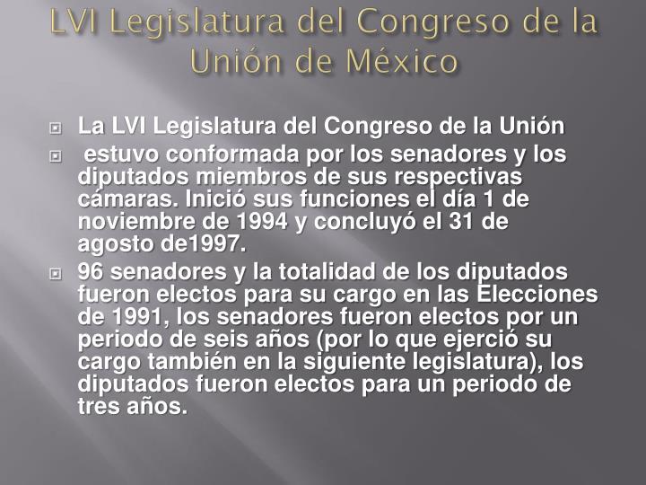 LVI Legislatura del Congreso de la Unión de México