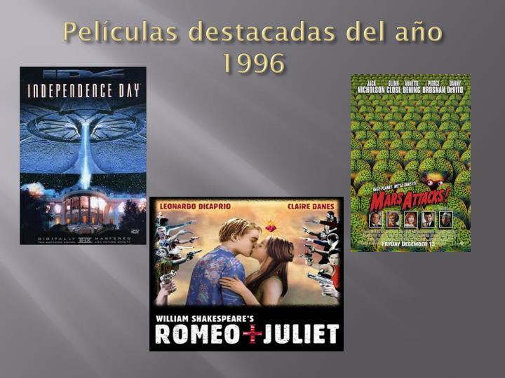 Películas destacadas del año 1996