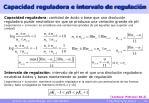 capacidad reguladora e intervalo de regulaci n