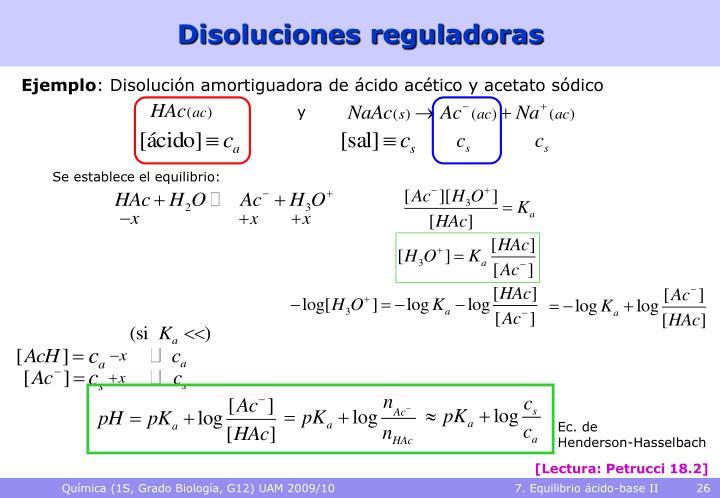 Disoluciones reguladoras
