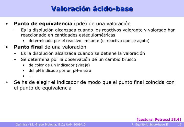 Valoración ácido-base