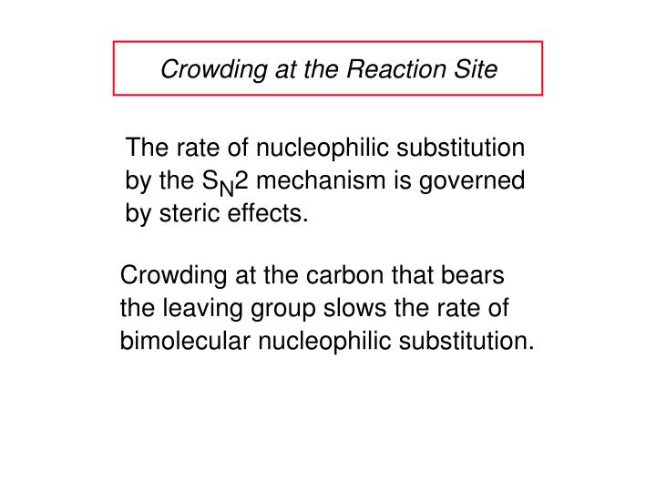 Crowding at the Reaction Site