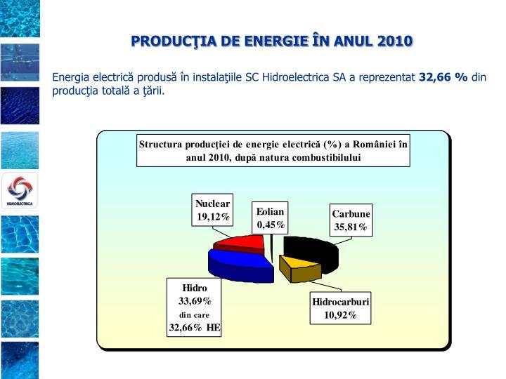 PRODUCŢIA DE ENERGIE Î