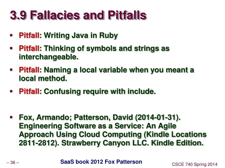 3.9 Fallacies and Pitfalls
