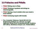 3 9 fallacies and pitfalls