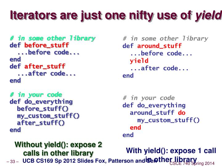 Iterators are just one nifty use of