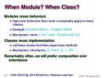 when module when class