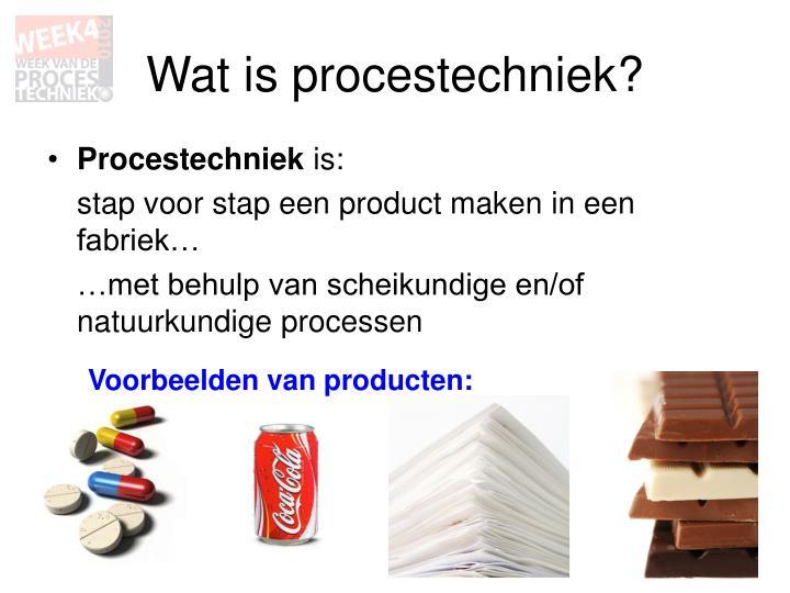 Wat is procestechniek?