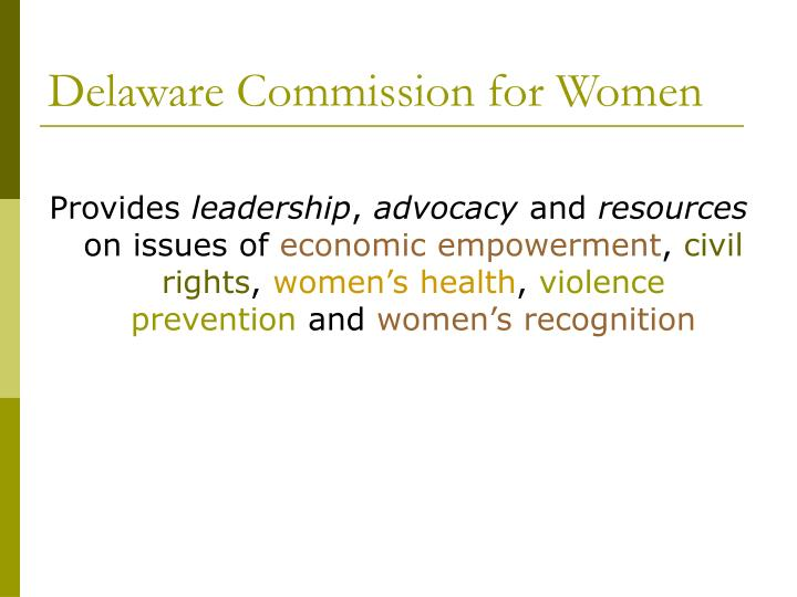 Delaware Commission for Women