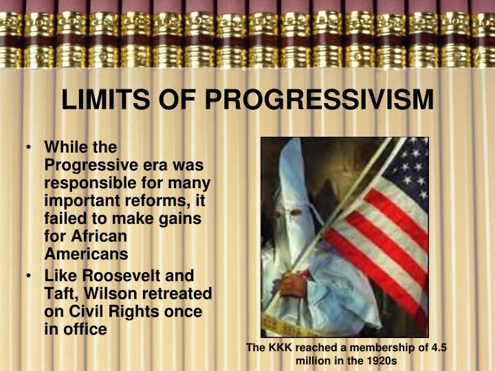 LIMITS OF PROGRESSIVISM