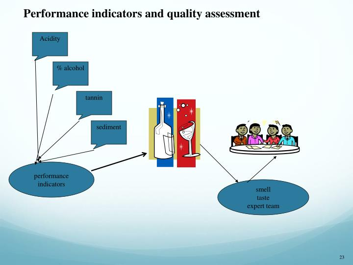 Performance indicators and quality assessment