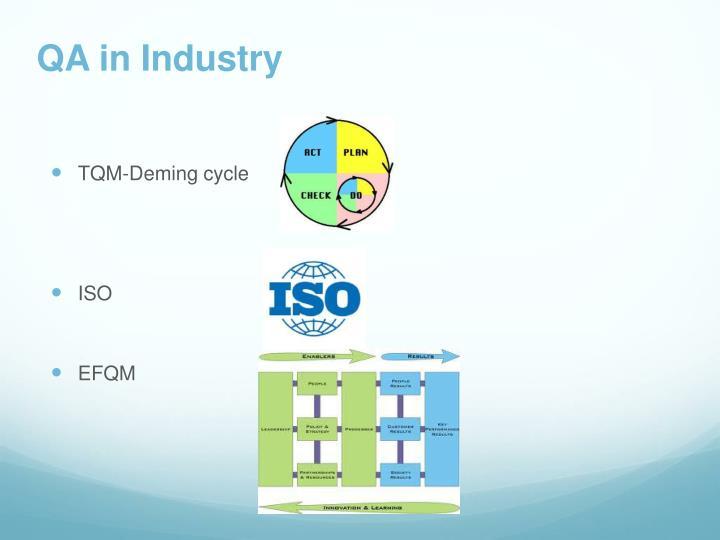 QA in Industry