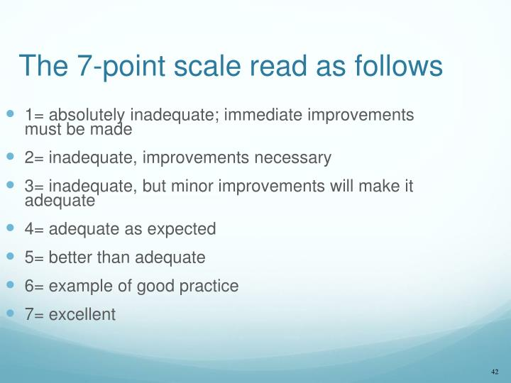 The 7-point scale read as follows
