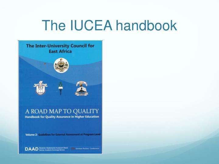 The IUCEA handbook