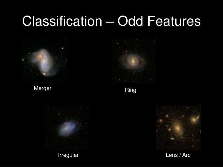 Classification – Odd Features
